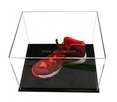 Custom clear acrylic shoe protect cover with black base BDC-2120