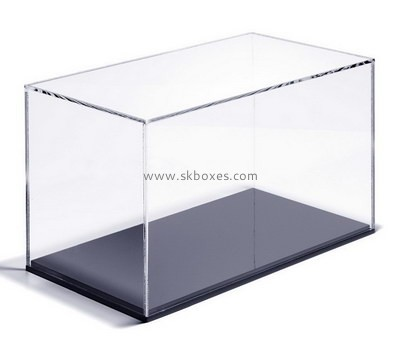 Custom clear acrylic display case with black base BDC-2141