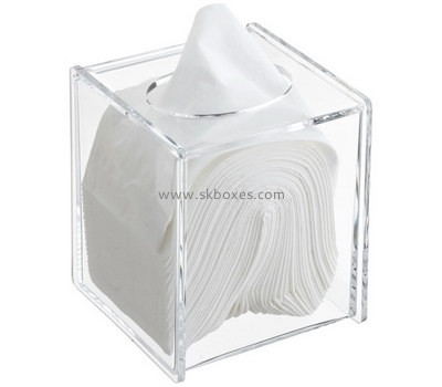 Custom clear acrylic tissue paper box BDC-2147