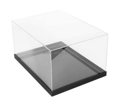 Custom acrylic display case with black base BDC-2153