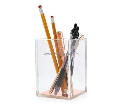 Custom clear acrylic pen holder box BDC-2157