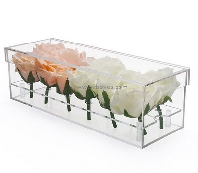 Custom plexiglass 12 flowers box BDC-2163