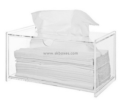 Custom clear acrylic tissue box BDC-2171