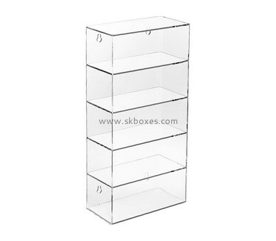 Custom 5 tiers wall acrylic display cabinet BDC-2175