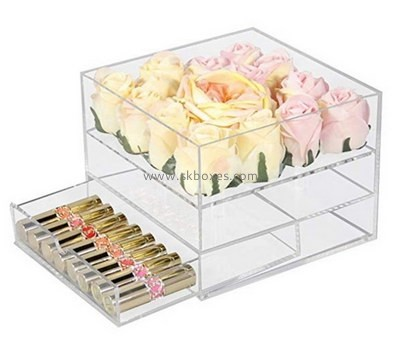 Custom plexiglass roses box with drawer BDC-2183