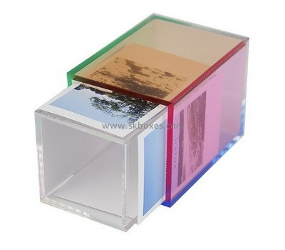 Custom acrylic pen holder with printing photos BDC-2193