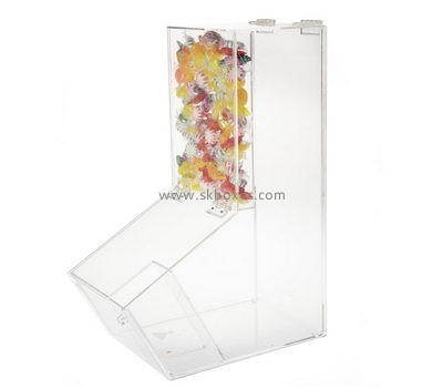 Custom clear acrylic candies display case BDC-2206