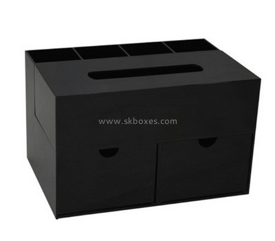 Custom black acrylic large tissue box BDC-2229